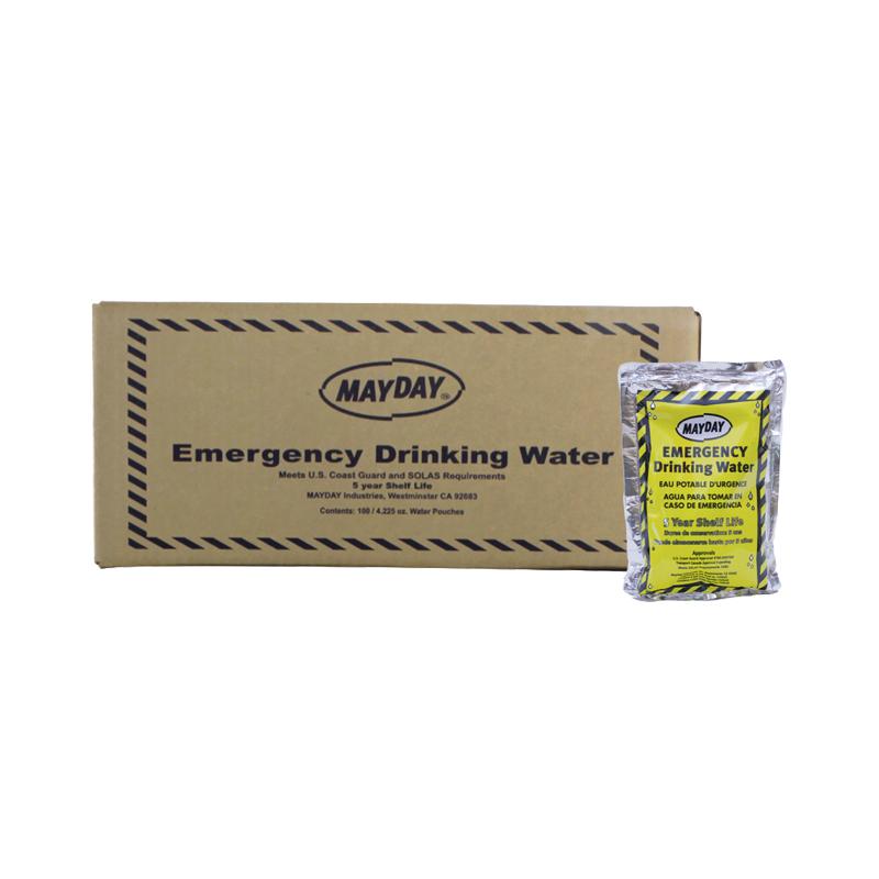 Mayday Emergency Drinking Water, 5-year shelf life case